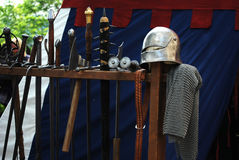 Medieval waepons. Different types of medieval  weapons Royalty Free Stock Photography