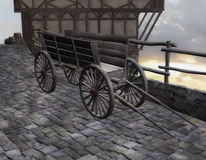 Medieval wagon Royalty Free Stock Photography