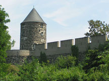 Medieval wall. Located in Cologne, Germany Stock Photos