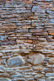 Medieval wall. Close-up of an antique stone wall Stock Photography
