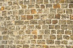 Medieval wall. Stones of medieval tower in Germany, Aachen Royalty Free Stock Photo
