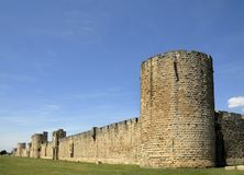 Medieval wall of Avila in Spain Royalty Free Stock Photos