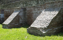 Medieval wall with buttresses Stock Images