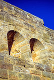 Medieval wall of a castle Royalty Free Stock Photos