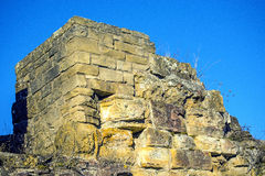 Medieval wall of a castle Royalty Free Stock Image