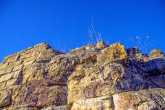 Medieval wall of a castle Royalty Free Stock Images