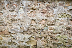 Medieval wall made from stones Stock Photo
