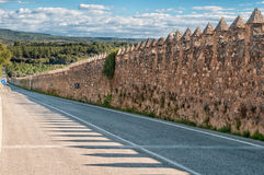 Medieval wall, Monastery of Santa Maria de Poblet, Stock Photography