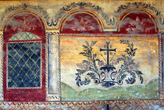 Medieval wall painting stock photos