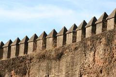Medieval wall in Seville, Spain Stock Photos