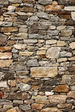Medieval wall of stone blocks Stock Photo