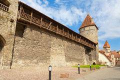 Medieval wall. Tallinn, Estonia Royalty Free Stock Image