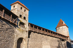 Medieval wall. Tallinn, Estonia Stock Photos