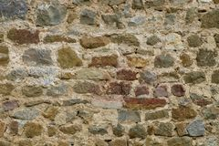 Medieval wall texture. Medieval brick wall texture for backgrounds Royalty Free Stock Image
