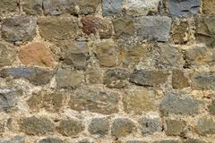 Medieval wall texture. Medieval brick wall texture for backgrounds Stock Photography