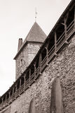 Medieval wall and tower in old Tallinn city Royalty Free Stock Image