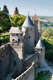 Medieval Wall with Towers, Carcassonne, France Royalty Free Stock Image