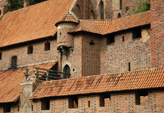 Medieval wall with turret. Medieval wall of Malbork castle with turret. Poland Stock Image