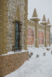 Medieval wall in winter Royalty Free Stock Photos