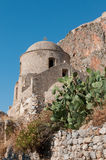 Medieval walled town of Monemvasia Stock Photos