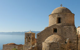 Medieval walled town of Monemvasia, Greece Royalty Free Stock Photo