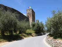 Medieval walled town Monteriggioni Royalty Free Stock Image