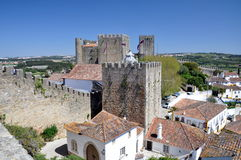 Medieval walled town of Obidos Royalty Free Stock Images