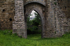 The medieval walls of the ancient castle Royalty Free Stock Image