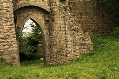 The medieval walls of the ancient castle Royalty Free Stock Images