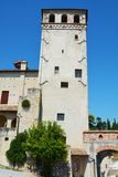 Medieval walls in Asolo town, Italy Royalty Free Stock Photography