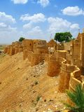 Medieval walls of Jaisalmer, Rajasthan, India. Medieval walls of Jaisalmer, the magnificent Golden City in the heart of Rajasthan (India), surrounded by the Royalty Free Stock Photo