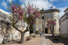 Medieval walls of Loches. France stock images