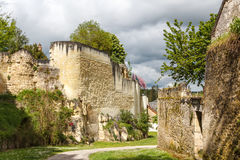 Medieval walls of Loches. France royalty free stock images