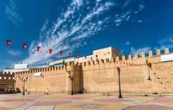 Medieval walls of Medina in Kairouan, Tunisia Royalty Free Stock Photography