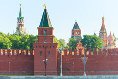 Medieval walls of Moscow Kremlin Stock Image