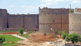 Medieval walls and towers Stock Image