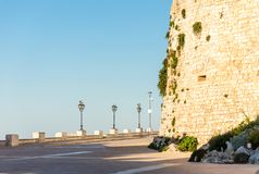 Medieval walls in the white village of Ostuni in Salento on the Adriatic sea. Salento is famous for its white villages and its seacoast with many wonderful stock images