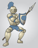 Medieval warrior draw Royalty Free Stock Photography