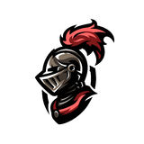 Medieval warrior knight in helmet. Logo, emblem symbol Royalty Free Stock Photography