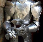 Medieval warrior soldier metal protective wear Stock Image