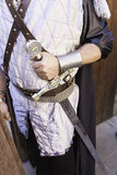Medieval warrior with sword Stock Photos