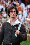 Medieval Warrior with Sword, New York City Stock Photos