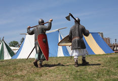Medieval warriors Stock Photography