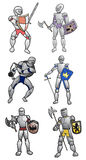 Medieval warriors. Creative design of medieval warriors Royalty Free Stock Image