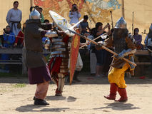 Medieval Warriors Fight Stock Photography