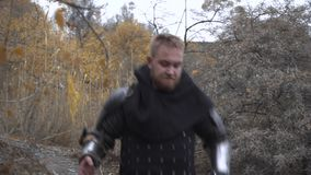Medieval warriors go on crusade. 4K stock video