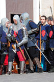 Medieval warriors representation Royalty Free Stock Photos