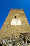 Medieval watch tower from below Stock Photos