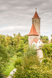 Medieval Watch Tower in Dinkelsbuehl Stock Photos