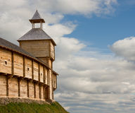 Medieval watchtower on the brink of precipice Royalty Free Stock Image